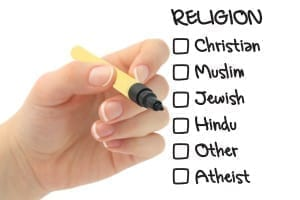 religion checkbox